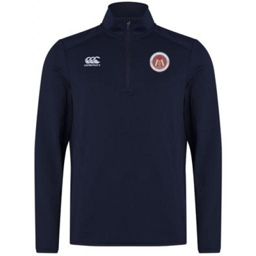 EAST MOLESEY CC 1/4 ZIP MID-LAYER TOP