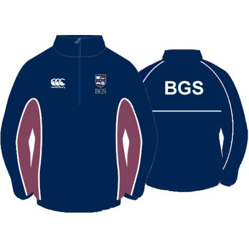 BGS OLD CREST 1/4 Zip Showerproof Jacket SNR Girls