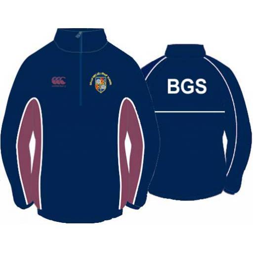 BGS OLD CREST 1/4 Zip Showerproof Jacket JNR Girls