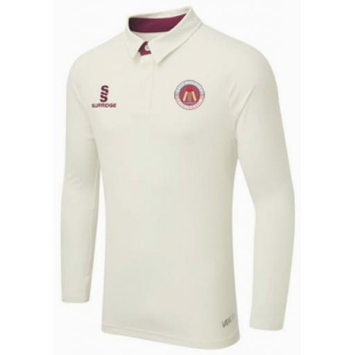 East Molesey CC FITTED L/S Match Shirt Adult